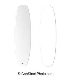 Blank surfboard template