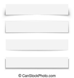 Blank white horizontal banners