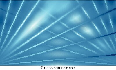 Blue abstract beams background
