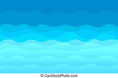 Blue abstract ocean waves vector background