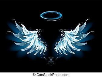 Blue angel wings