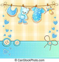 Blue baby shower card