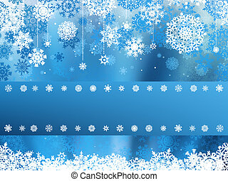 Blue christmas background with christmas snowflake. EPS 8 vector file included