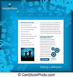 editable vector website