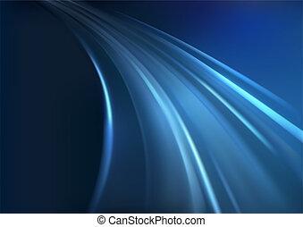 Blue Glowing Rays
