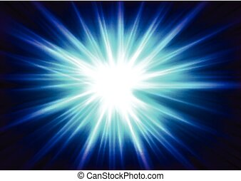Blue glowing shiny beams abstract background