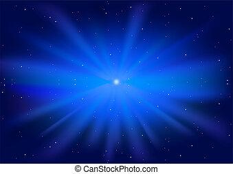 Blue Glowing Star