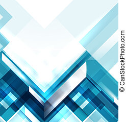Blue modern glossy geometric absract background template