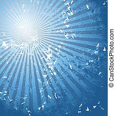 Blue summer sun