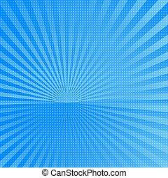 blue sun rays background