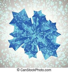 Blue vector star