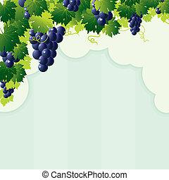 blue vine grape cutout frame