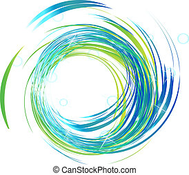 Blue waves with bright lights background illustration vector