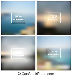 Abstract colorful blurred vector backgrounds. Elements for your website, application (app), presentation.