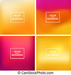 Abstract colorful blurred vector backgrounds. Set timeline template.