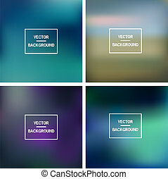 Abstract colorful blurred vector backgrounds. Vector timeline template.