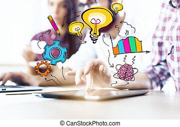 Creative idea concept