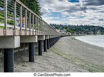 Boardwalk At Low Tide