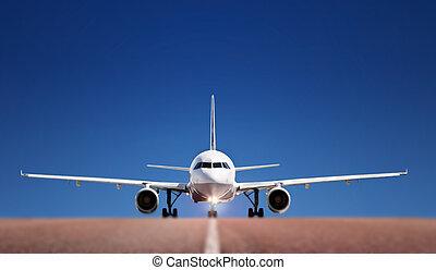 Boing on runway