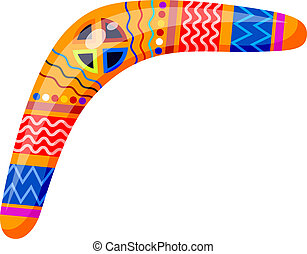 Boomerang isolated on white background. Tribal style. Vector illustration.