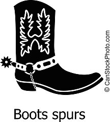 Boot spurs icon. Simple illustration of boot spurs vector icon for web