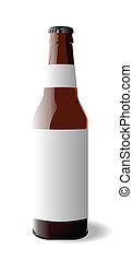 Vector illustration of bottle beer is isolated on white background