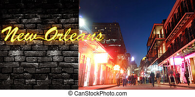 Bourbon Street and New Orleans neon