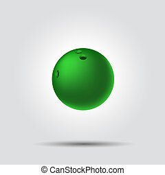 Bowling ball 8 on white background with shadow
