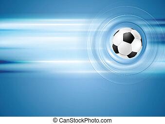Bright blue football background