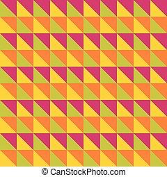 Bright multicolored seamless pattern. Triangles