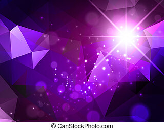 Bright Purple Abstract Background With Star and Lights