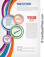 Colorful background with wave - brochure design or flyer