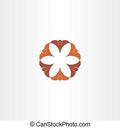 brown icon people teamwork symbol