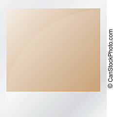 brown photo isolated on white