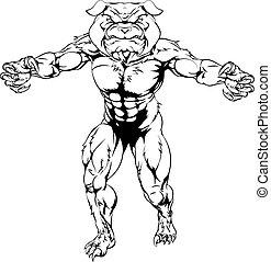 Bulldog sports mascot