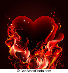Burning heart.