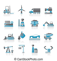 Business and industry icons - vector icon set
