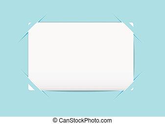 Business card blue holder