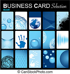 Business card selection