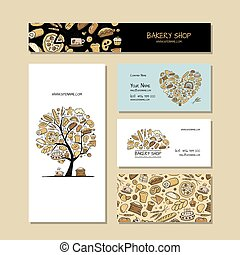 Business cards, design idea for bakery company