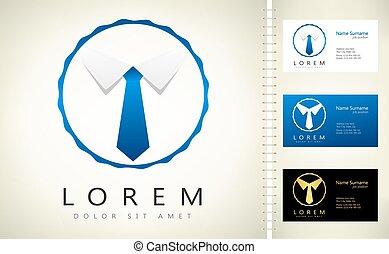Business logo. Tie vector
