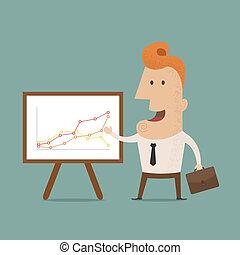 Business man making a presentation, eps10 vector format