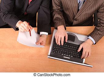 business men working