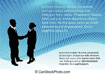 business people abstract background