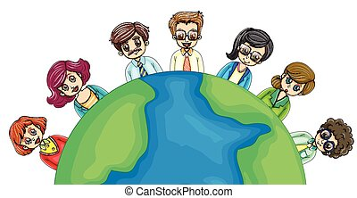 Business people around the world
