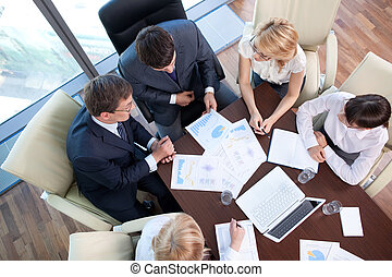 Business people at the negotiating table in the office