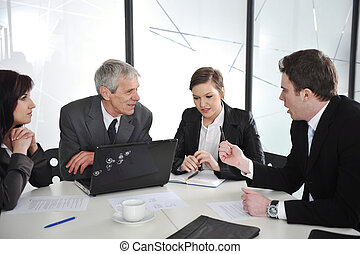 Business people discussion at meeting room