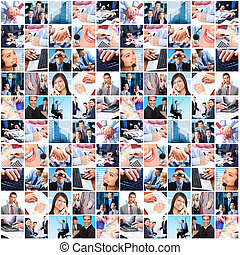 Business people team collage. Teamwork. Business society.