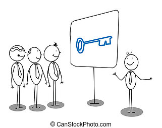 Businessman Presentation about solution