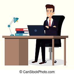 businessman sitting in the office